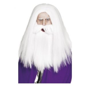 MAGICIAN SET, WIG AND BEARD