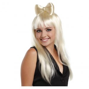 BLONDE HAIR BOW WIG
