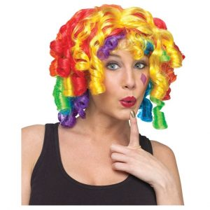 CRAZY CURLZ RAINBOW CLOWN WIG