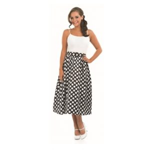 50's Black and White Skirt