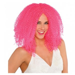 PINK CRIMPED WIG