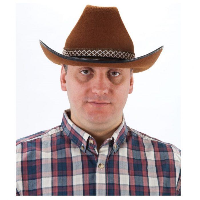 BROWN FELT COWBOY HAT